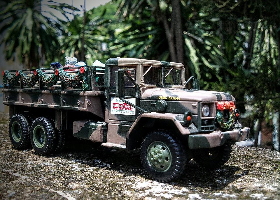 Truck, Diecast, Military