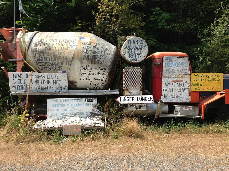 Doodle, Scribble, Graffiti, Odd, Truck, Political