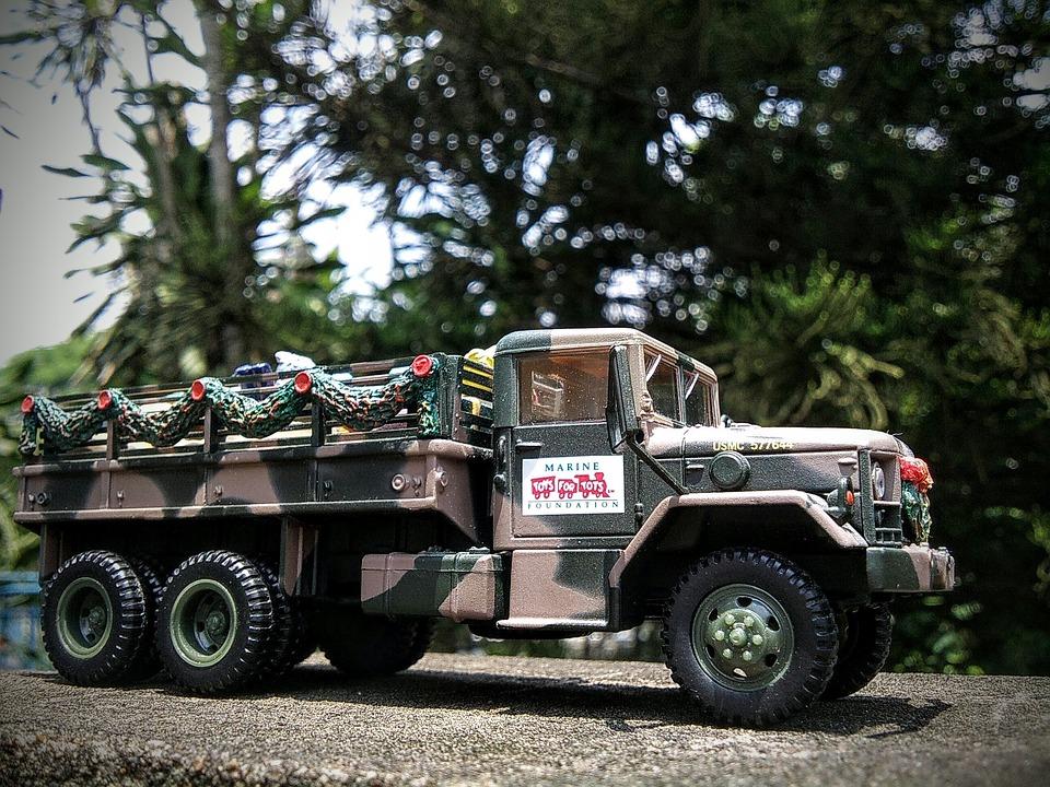 Truck, Diecast, Military