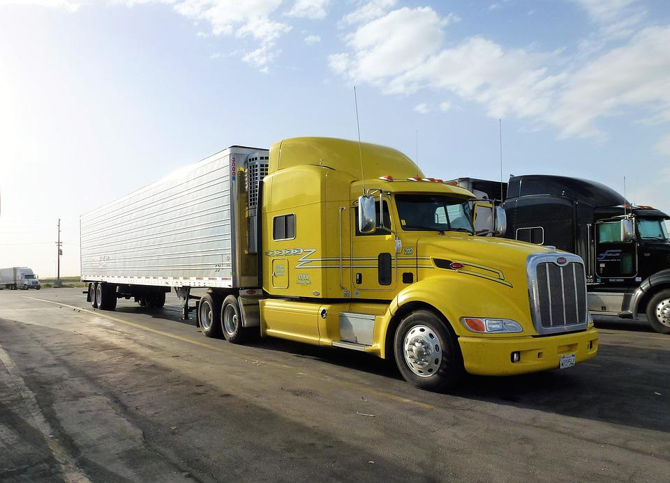 Transport, Automobile, Truck, Vehicle, Trailer, Yellow