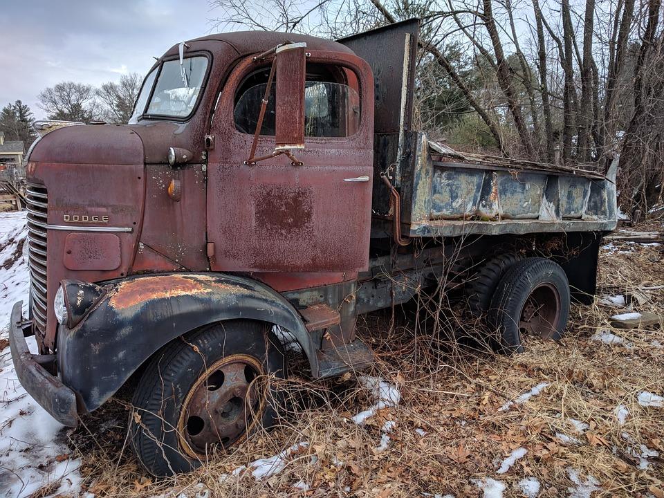 Vehicle, Truck, Old, Machine, Dodge, Rust