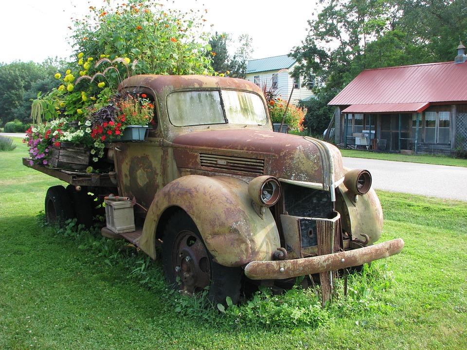 Free photo Truck Vehicle Retro Vintage Rust Wheel Old - Max Pixel