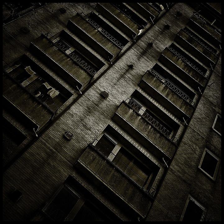 Building, Gloomy, Window, Dark, Trueb, Mood