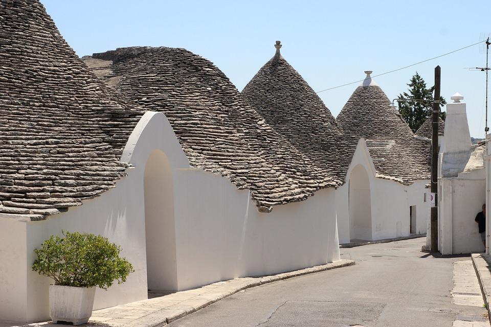 Alberobello, Puglia, Trulli, White, Itria, Italy