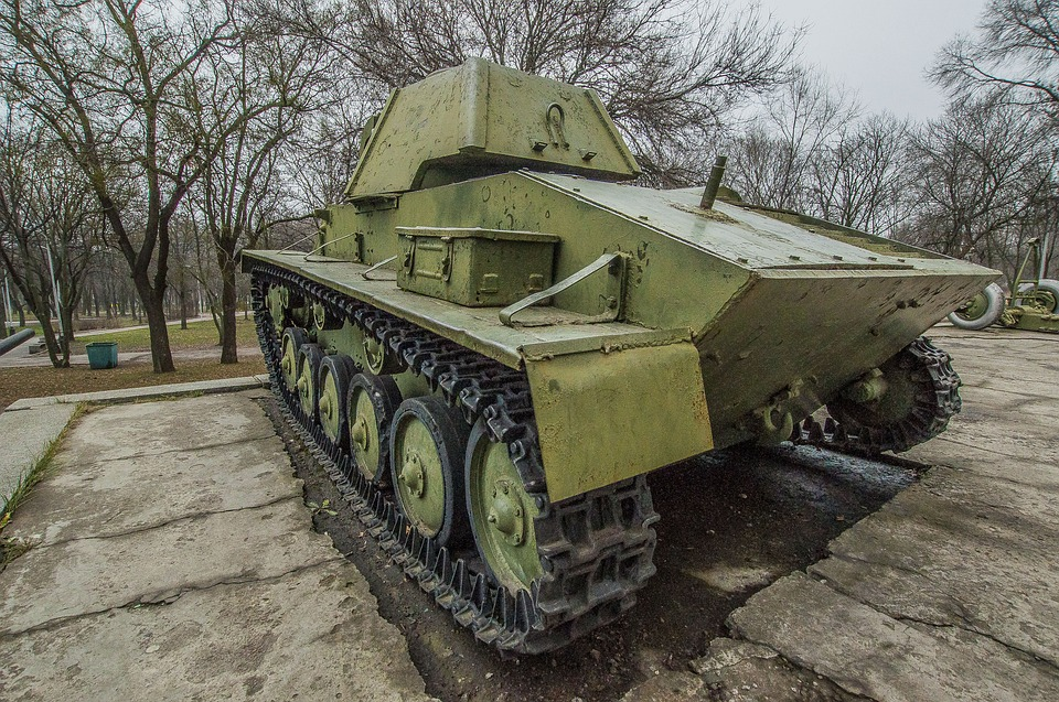 War, Army, Military, Weapons, Trunk Park, Tank