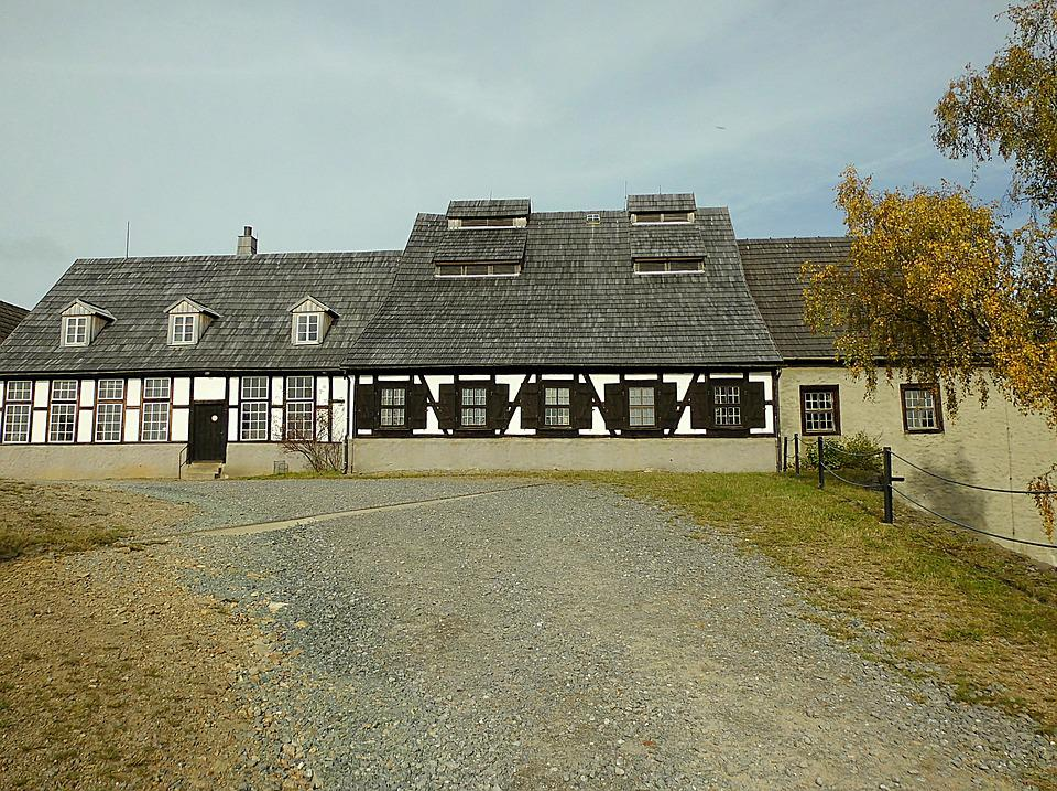 Home, Truss, Architecture, Autumn, Freiberg, Saxony