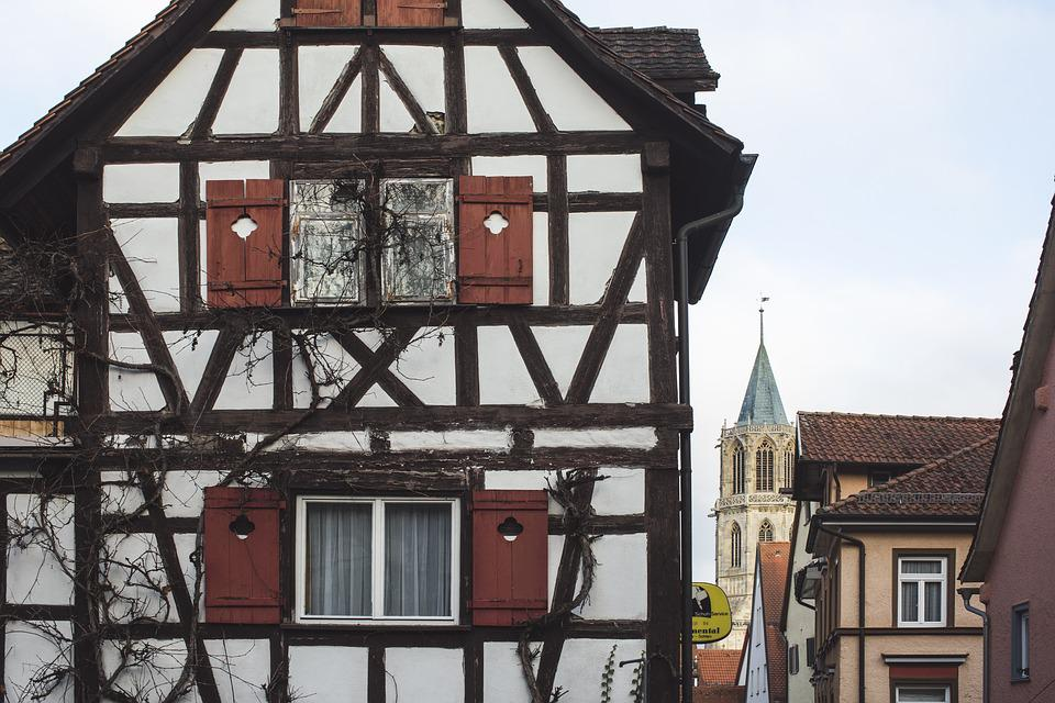 Architecture, Germany, Rottweil, Facade, Truss, Home
