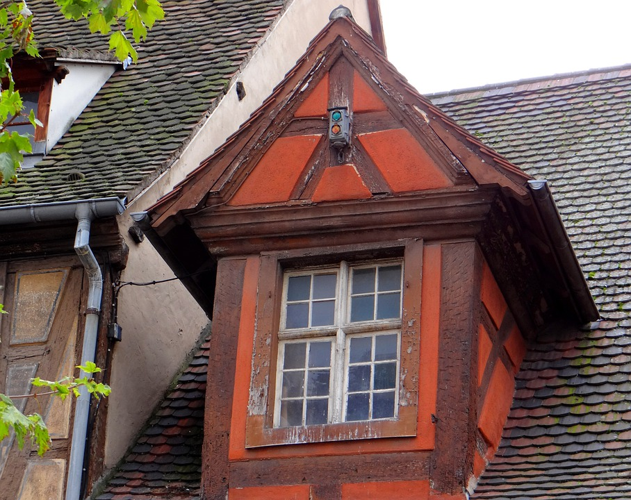 Window, Truss, Red, Brown, Gable, Picturesque
