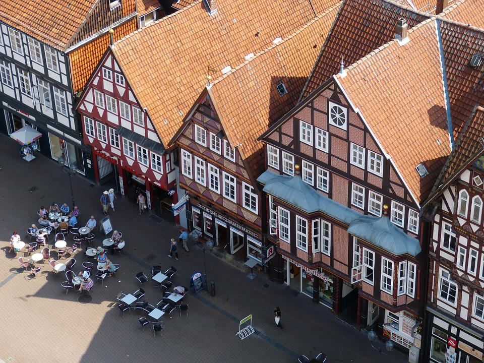 Celle, Lower Saxony, Old Town, View, Outlook, Truss