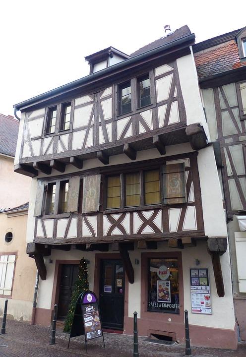 Colmar, Facade, Truss, Old Town