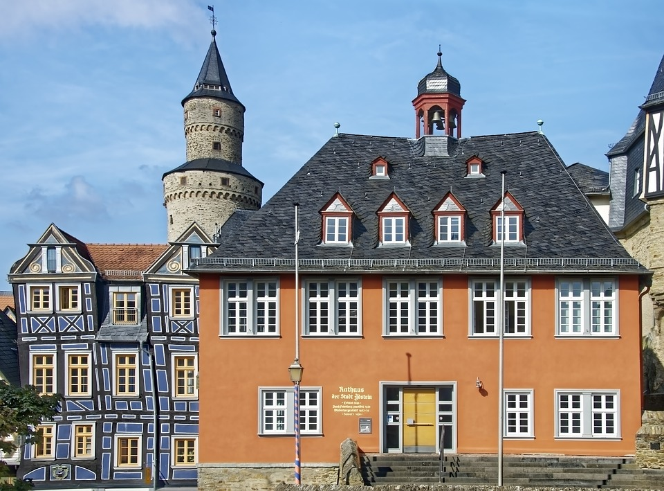 Germany, Idstein, Historic Center, Town Hall, Truss
