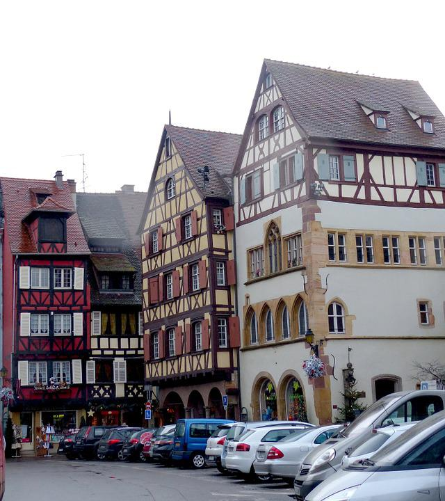 Romantic, Old Town, Colmar, Truss