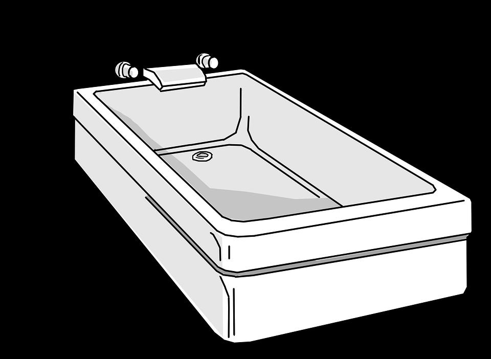 Free photo Tub White Bathroom Clean Bathtub Bathing Tub - Max Pixel