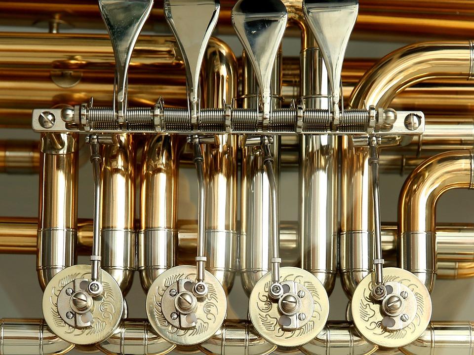 Rotary Valves, Tuba, Valves, Stimmzug, Brass Instrument