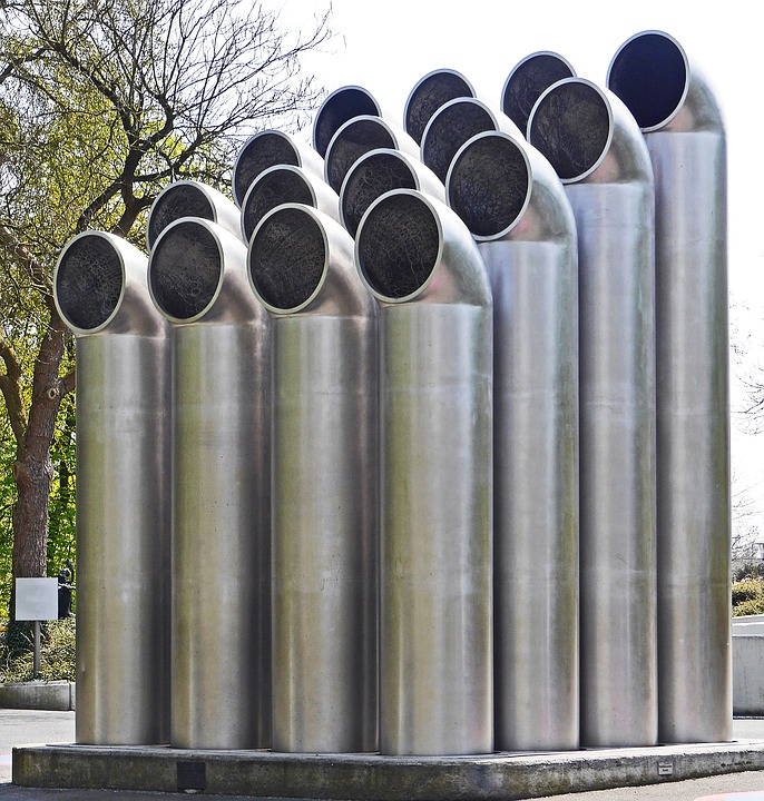 Tube Sculpture, Art Most Construction, Stainless Steel