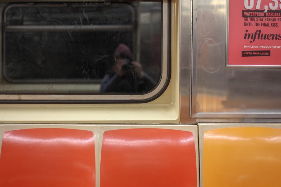 Subway, New York, Tube, Tourist, Nyc, Reflection