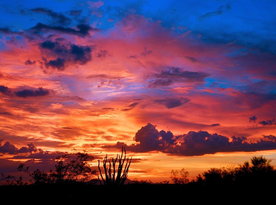 Free photo Tucson Arizona Desert Sunset Monsoon