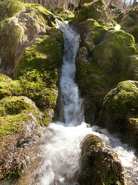 Neidlinger Waterfall, Bach, Creek, Water, Bubble, Tufa