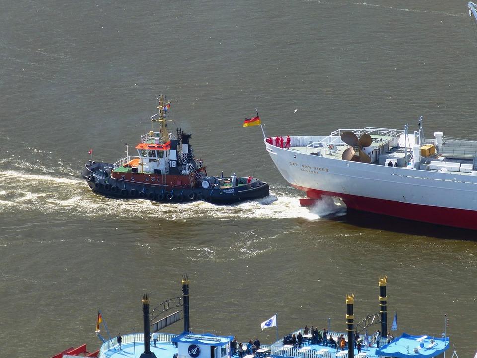 Port, Hamburg, Elbe, Maritime, Tug, Cap San Diego