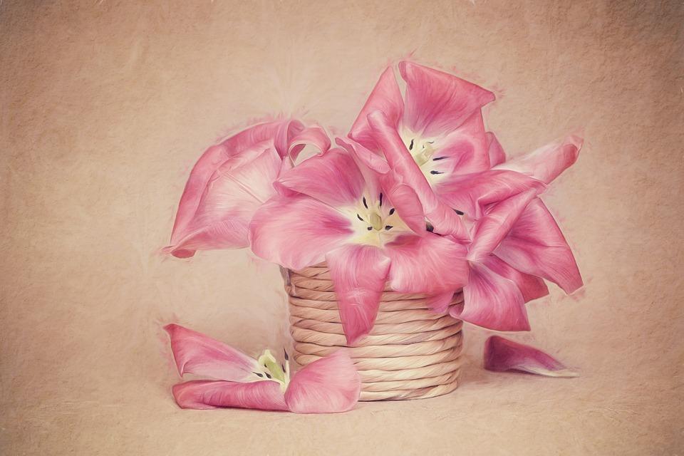Image, Painting, Tulips, Flowers, Tulip Flower, Petals
