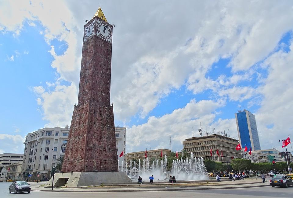 The Tower, Place 14 January, Tunis, Tunisia, Street
