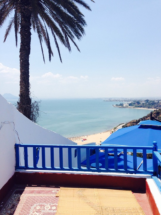 Holiday, Tunisia, Palm, Sea, Blue, Balcony, Cruise