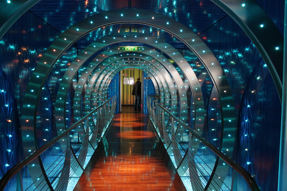 Aida Mar, Anytime Bar, Cruise, Modern, Lights, Tunnel
