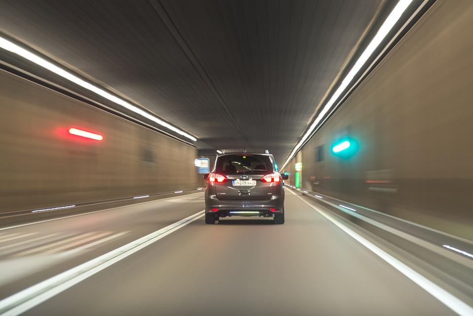 Car, Driving, Tunnel, Lights, Driving Car