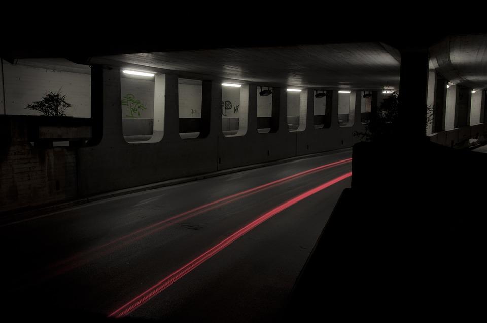 Tunnel, Underpass, Light, Long Exposure, Passage, Dark