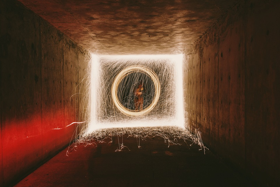 Free Photo Tunnel Long Exposure Light Dark Spark Fire People Max Pixel