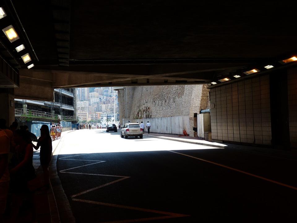 Tunnel, Monaco, Race Track, Formula 1