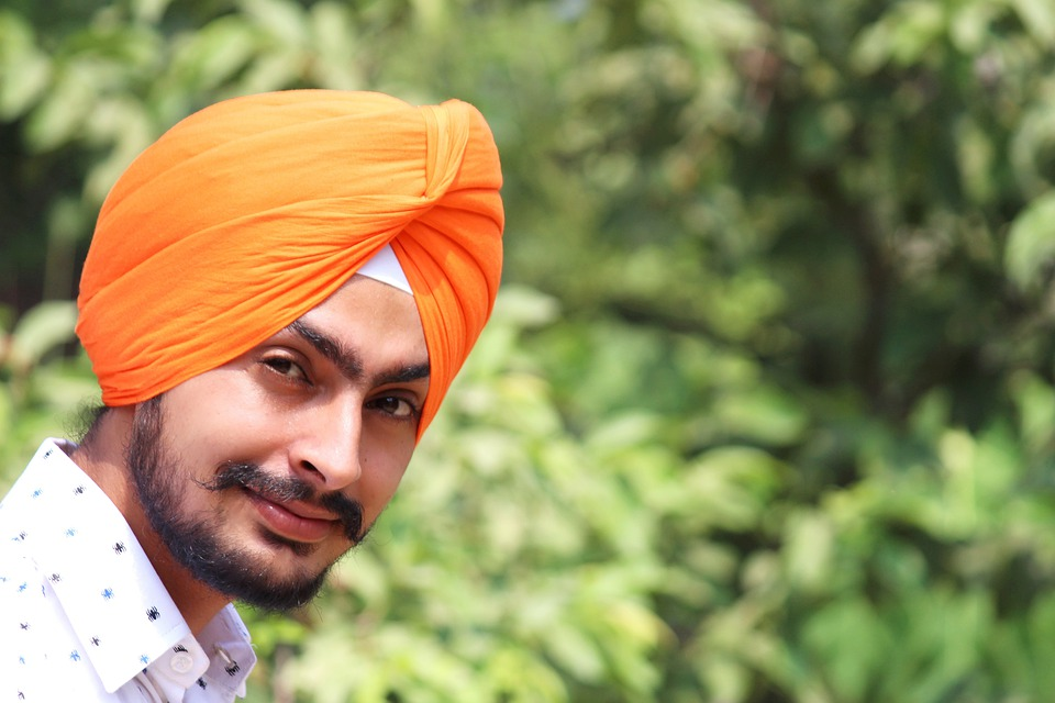 Indian, Turban, Fashion, Orange