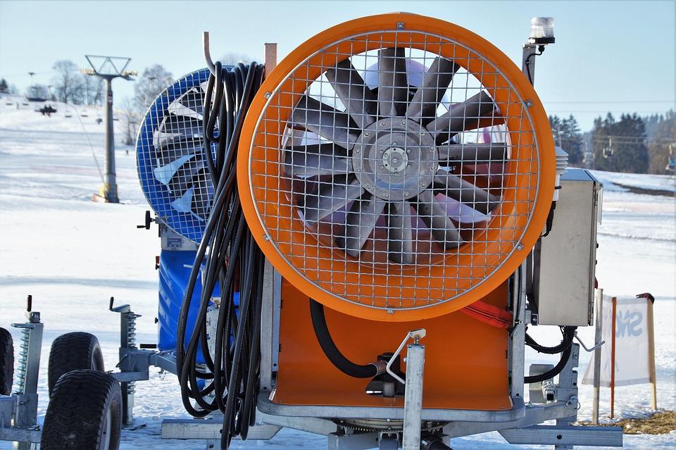 Snow Cannon, Artificial Snow, Machine, Turbine, Winter