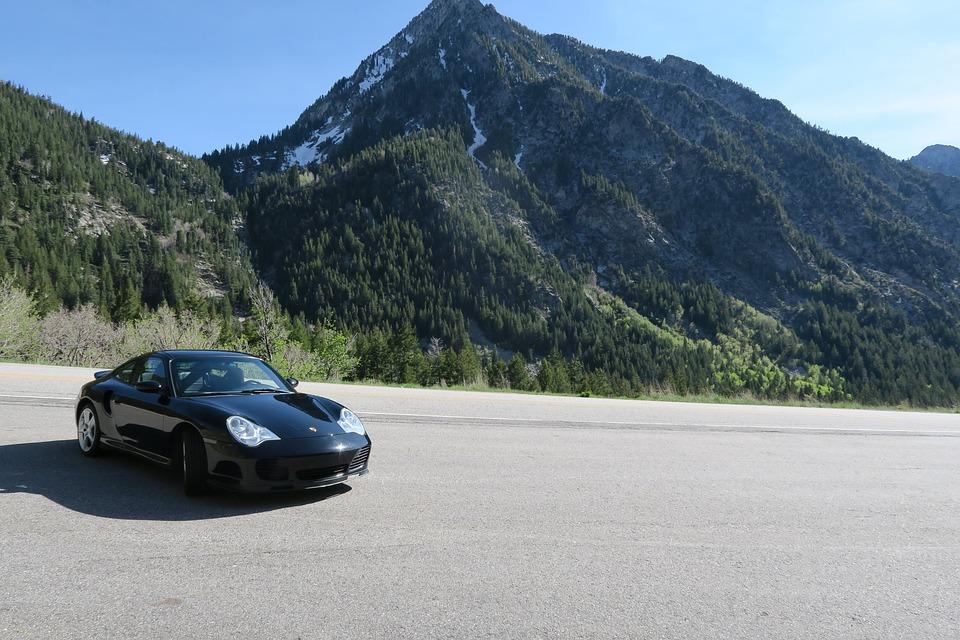 Porsche, 911, 996, Turbo, Little Cottonwood, Coupe, Car