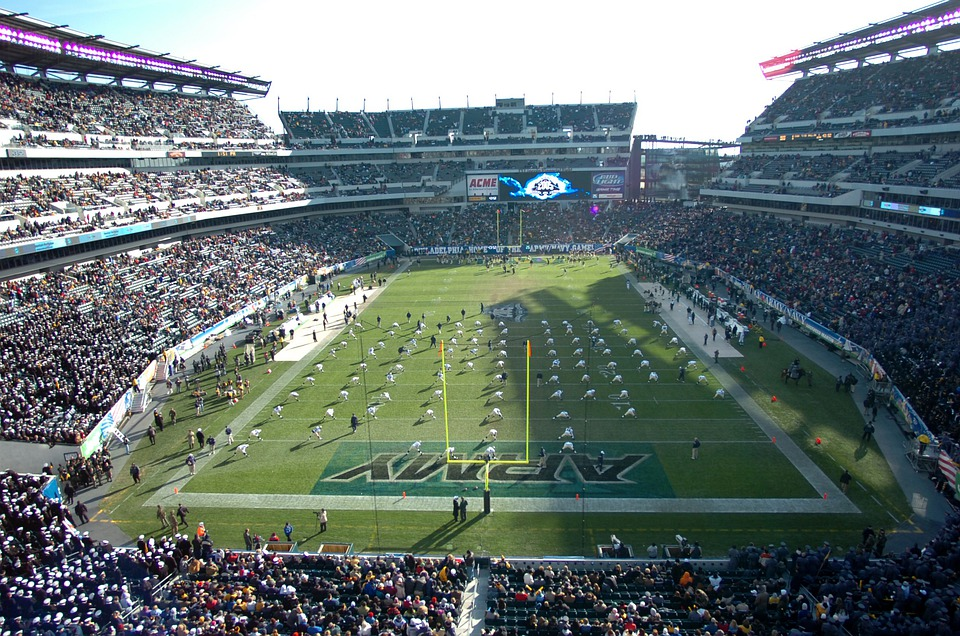 Football, Stadium, Teams, Field, Grass, Turf