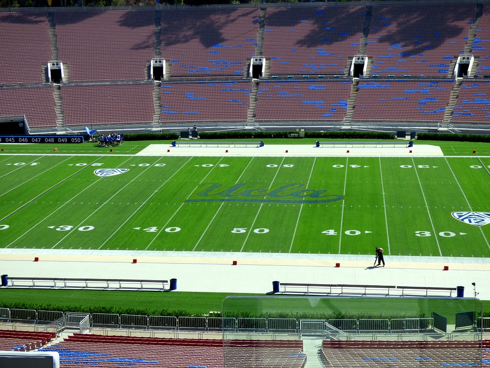 Stadium, Bleachers, Spectator, Turf, Ucla, Rose Bowl