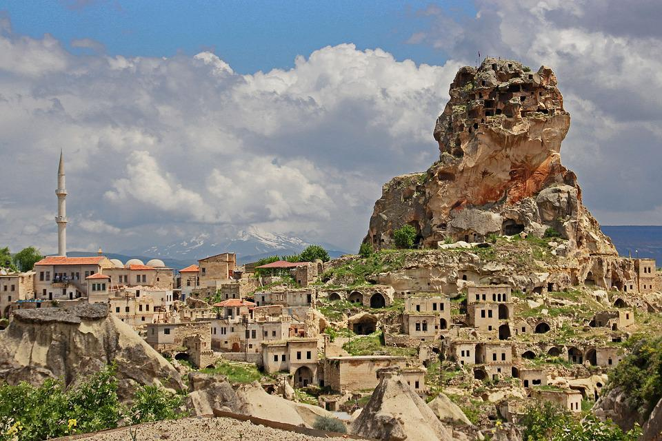 Turkey, Capadokia, Village, Cliff Dwellings, Tuff Rock