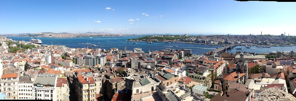 Istanbul, Panorama, Bosphorus, Turkey