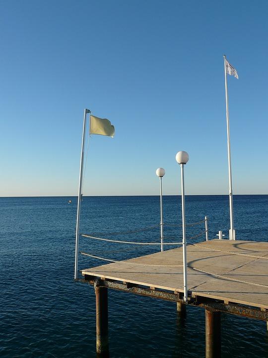 Jetty, Turkey, Turkish Riviera, Sea