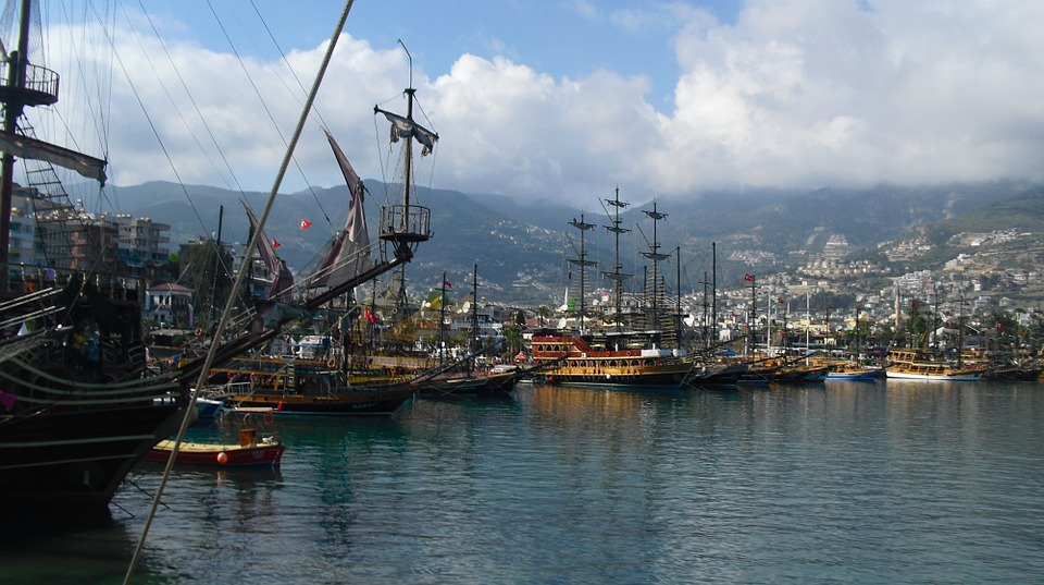 Alanya, Turkey, Pirate Ship, Port, Ships