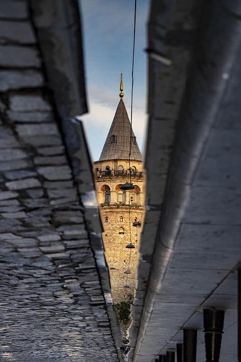 Tower, Reflexion, Galata, Istanbul, Turkey, Yansıma