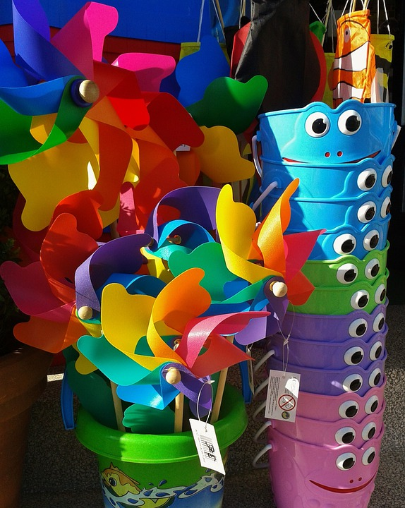 Windräder, Pinwheel, Turn, Colorful, Plastic