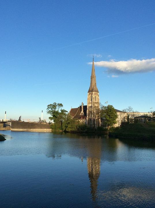 Helsingor, Denmark, Water, Castle, Turn