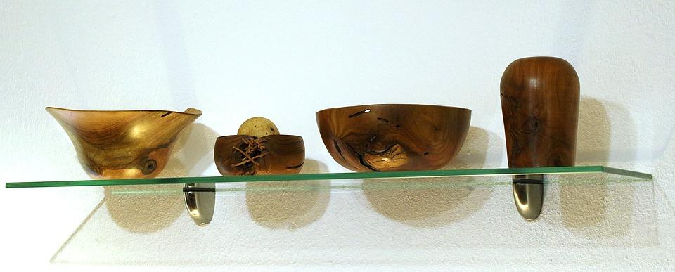 Wooden Bowls, Turned, Art, Wood, Form, Arts Crafts