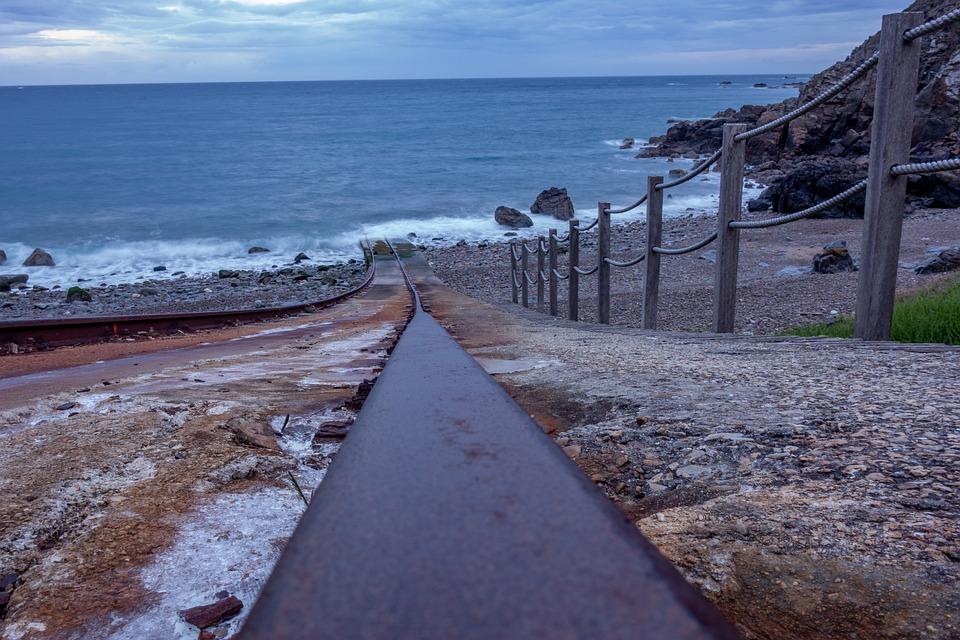 Rail, Shore, Sea, Ocean, Pier, Turquoise, Nature