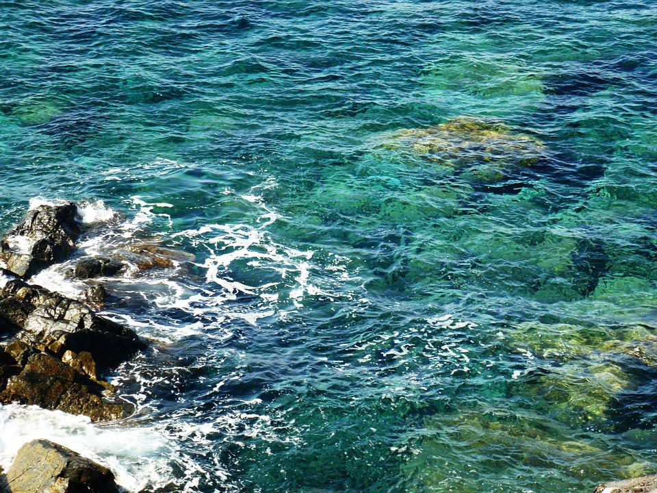 Water, Sea, Transparent, Blue, Turquoise, Rock, Nature