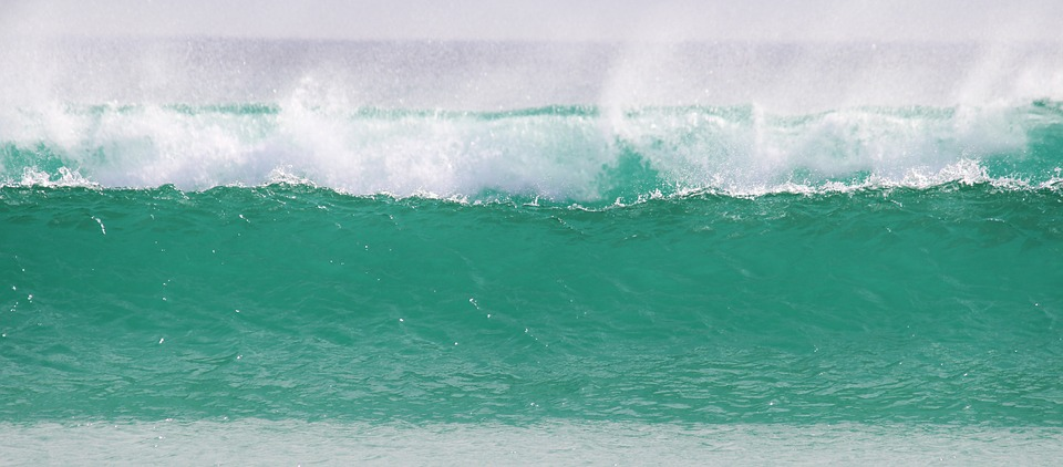 Wave, Sea, Ocean, Crusher, Spray, Foam, Turquoise