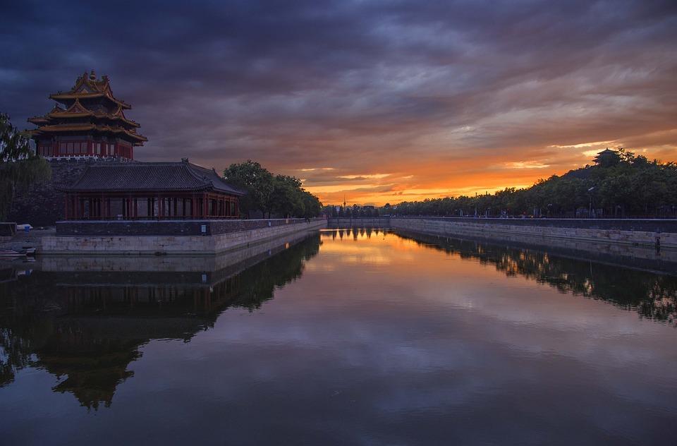 Turret, Sunset, Spring, Beijing