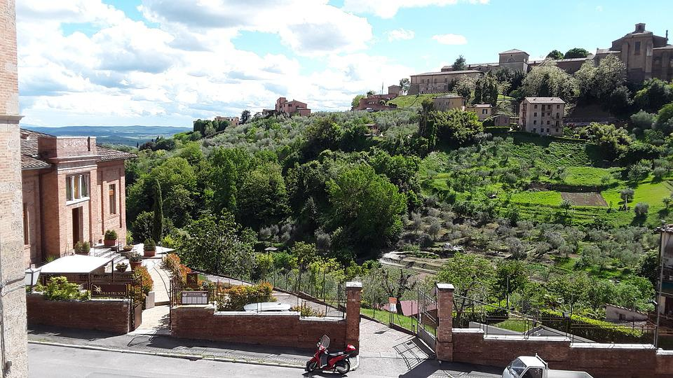 Siena, Tuscany, Park, Garden, Stadtmitte, Italy