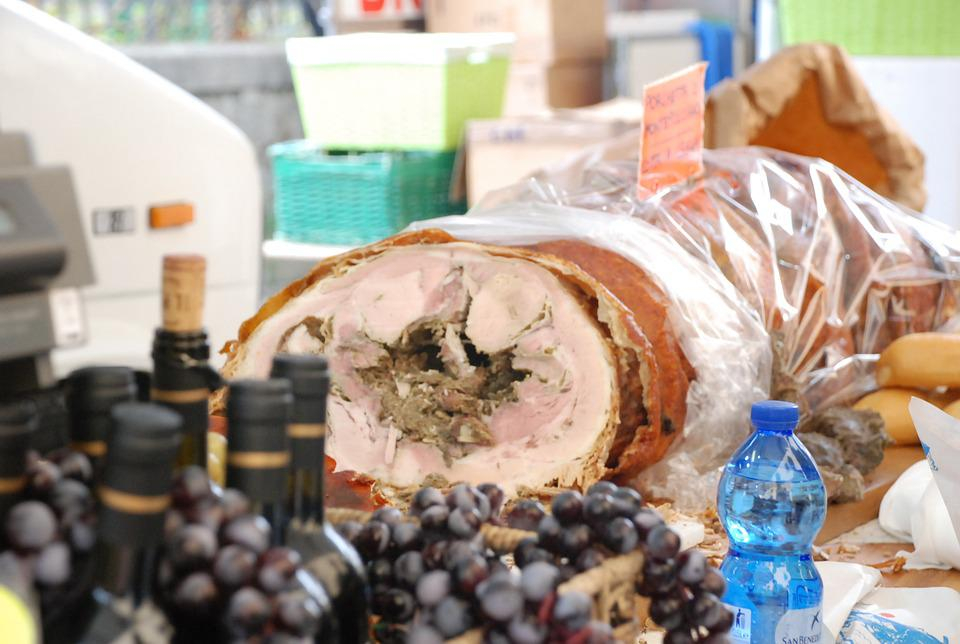 Porchetta, Wine, Tuscany